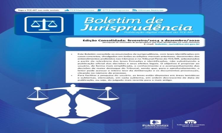 TCE-MT lança edição consolidada do Boletim de Jurisprudência